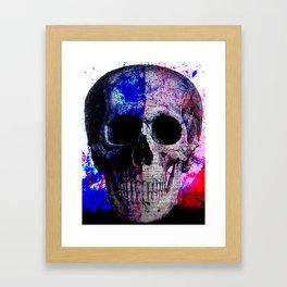 Splatter Skull Framed Art Print