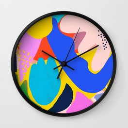 Unbridled Enthusiasm - Shapes and Layers no.38 Wall Clock