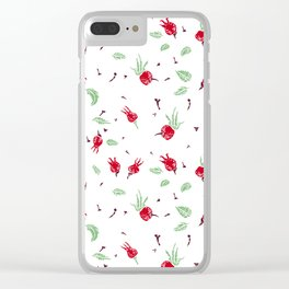 Wild rose Pattern Clear iPhone Case