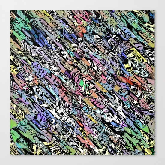 Chaotic Colorful Shapes Canvas Print
