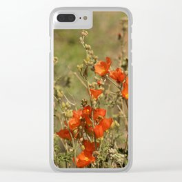 Desert Wildflower - 4 Clear iPhone Case