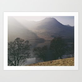 misty reflections. buttermere, lake district, uk. Art Print