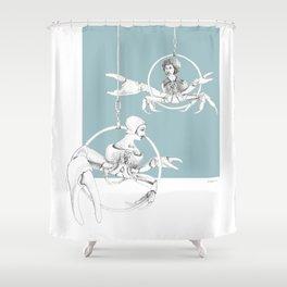 Weird & Wonderful: Crab Circus Shower Curtain