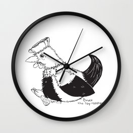 Bruce the toy rooster Wall Clock