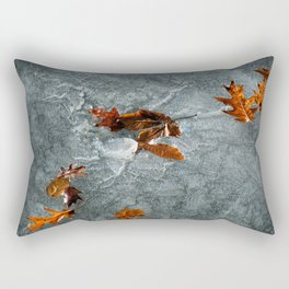 Autumn Leaves on Ice Rectangular Pillow