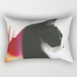 Pondering Cat Rectangular Pillow
