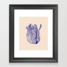 Dark tulip Framed Art Print