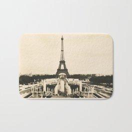 Eiffel Tower - Vintage Post card Bath Mat