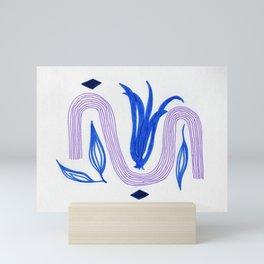 abstract tulip Mini Art Print