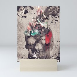 Witchcraft skull Mini Art Print