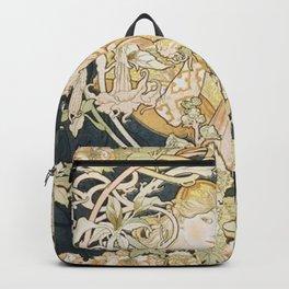 1898 Femme A Marguerite Alphonse Mucha Backpack