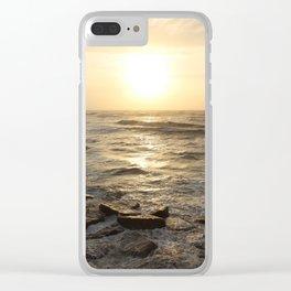 Shoreline Sunrise Clear iPhone Case