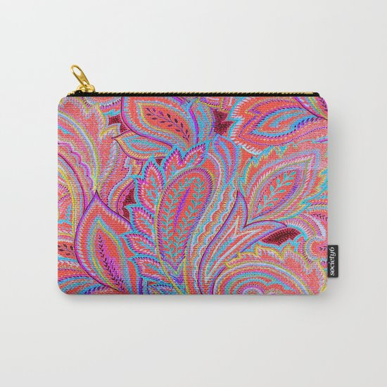 paisley heart  Carry-All Pouch