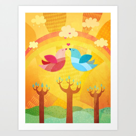 L'Amour... Art Print