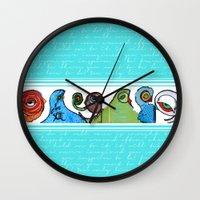 grafitti Wall Clocks featuring grafitti by Noush