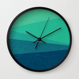 Stripe VIII Minty Fresh Wall Clock