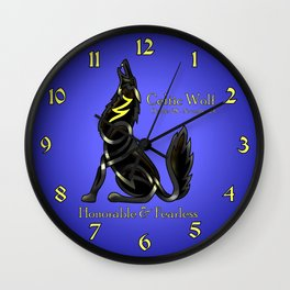Celtic Zodiac Wolf Wall Clock