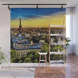 Eiffel Tower Paris City Landscape Wall Mural