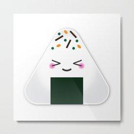 Happy onigiri Metal Print