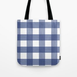 Blue Buffalo Check Tote Bag