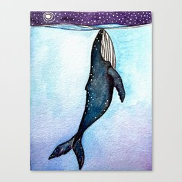 Whale at Night Canvas Print