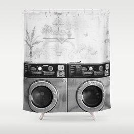 Vintage Laundromat Shower Curtain