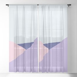 Triangels #1 - Blue And Violet Quietude Sheer Curtain