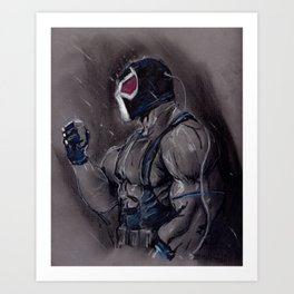 The Man who Boke the Bat! Art Print