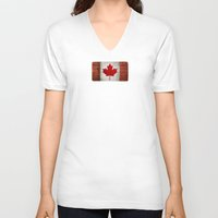 canada V-neck T-shirts featuring Canada by Arken25