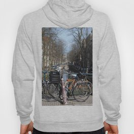 Bike Parked on Canals of Amsterdam Hoody