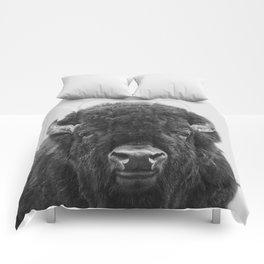 Buffalo Print, Bison Wall Art, Photography Print Comforters