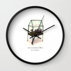 the wandering Eye in a wagon Wall Clock
