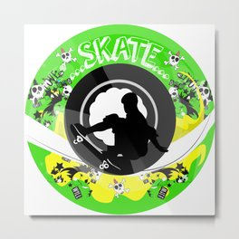 Skate wheels Punk Metal Print