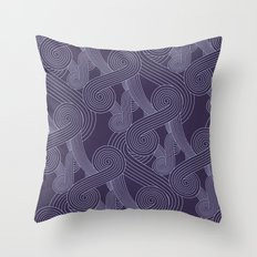 Quarian Swirls Throw Pillow