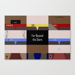DS9 - Far Beyond the Stars - Minimalist Star Trek DS9 Deep Space Nine - startrek - Trektangles Canvas Print