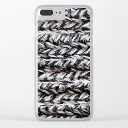 Warm knits Clear iPhone Case