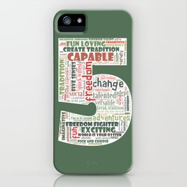Life Path 5 (color background) iPhone Case