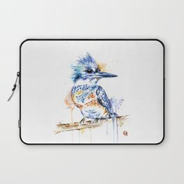 Kingfisher Colorful Watercolor Bird Painting Laptop Sleeve
