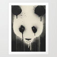 PANDA STARE Art Print