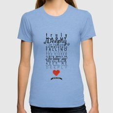 One Direction: Truly Madly Deeply MEDIUM Womens Fitted Tee Tri-Blue