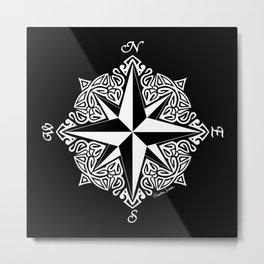 Cindy's Tribal Compass Rose Metal Print