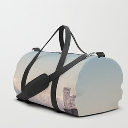 Miramar Castle with Italian Alps in background. Trieste Italy Duffle Bag
