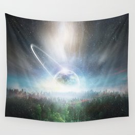 Magical Forest And Moon Wall Tapestry