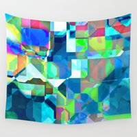 70s Wall Tapestries featuring Back in the 70s, blue by MehrFarbeimLeben