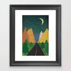 Somewhere going Nowhere Framed Art Print
