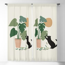 Cat and Plant 13: The Making of Monstera Blackout Curtain
