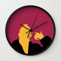 taxi driver Wall Clocks featuring Taxi Driver by FilmsQuiz