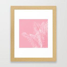 Millennial Pink illumination of Heart White Tropical Palm Hawaii Framed Art Print