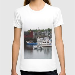 Rockport Inner Harbor With Lobster Fleet And Motif No.1 T-shirt
