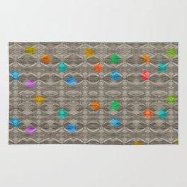 Gemstone Glitch Contrast Pattern Rug